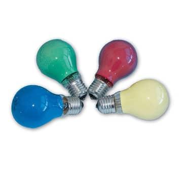 E27 25W/40W farvet glødepære til lyskæder