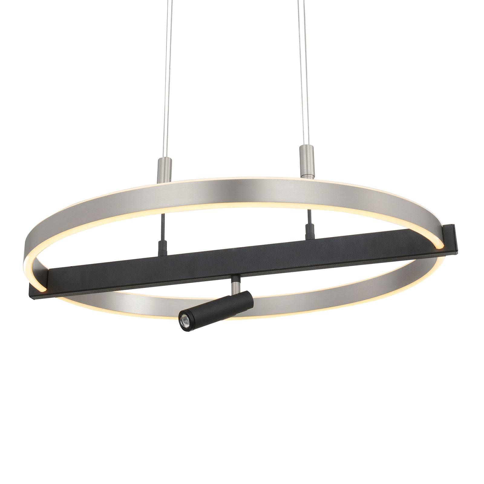 Lucande Matwei suspension LED, anneau, nickel