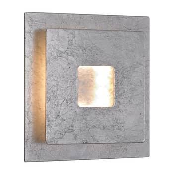LED-vägglampa Ennis i bladsilveroptik