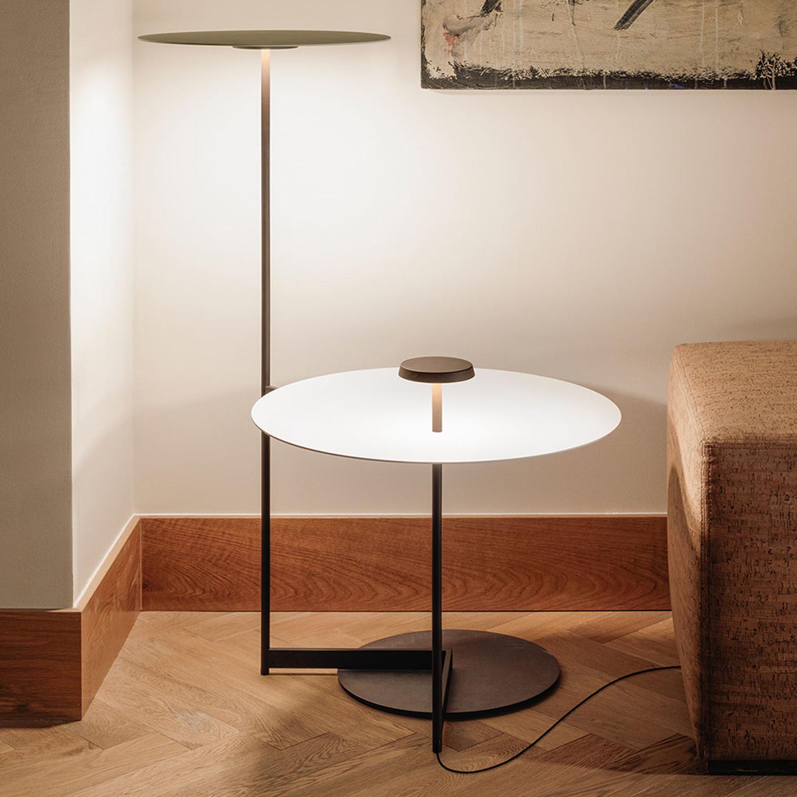 Vibia Flat LED-gulvlampe, 90 cm, grå L1 kan dæmpes