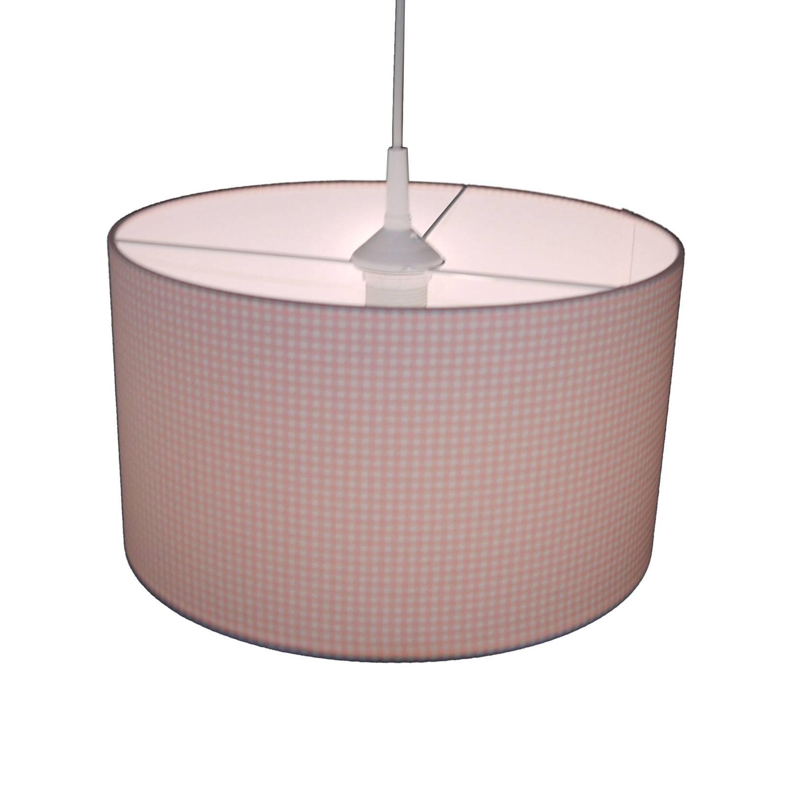Hanglamp Vichykaro, roze/wit