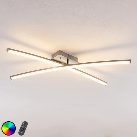 Stropní LED svítidlo Trevon sdálkovým ovladačem