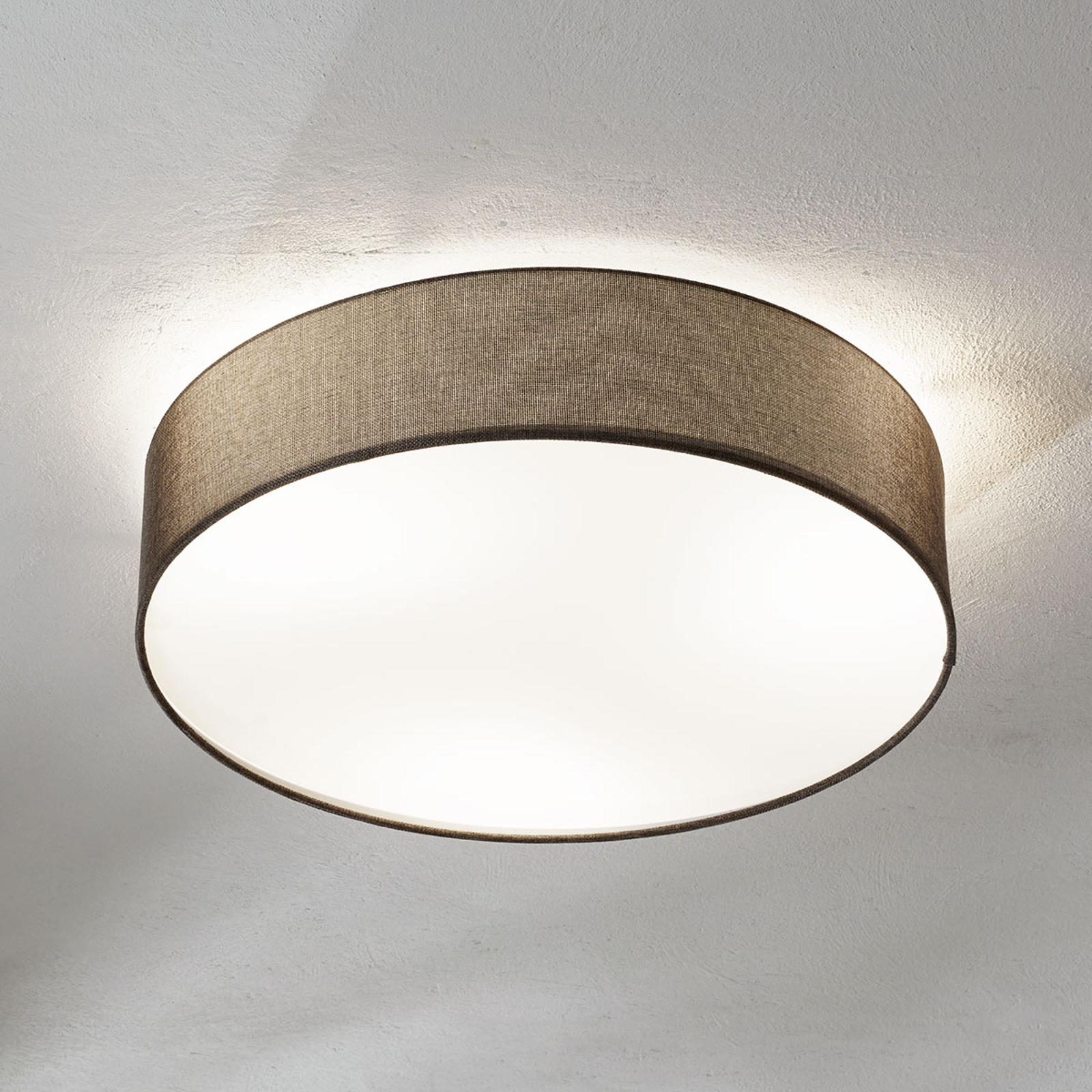 Braune Textil-Deckenlampe Pasteri 57 cm