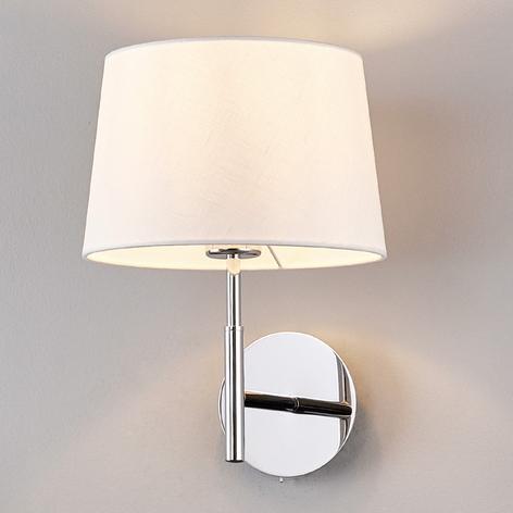 Wandlampe Dorothea mit weißem Stoffschirm