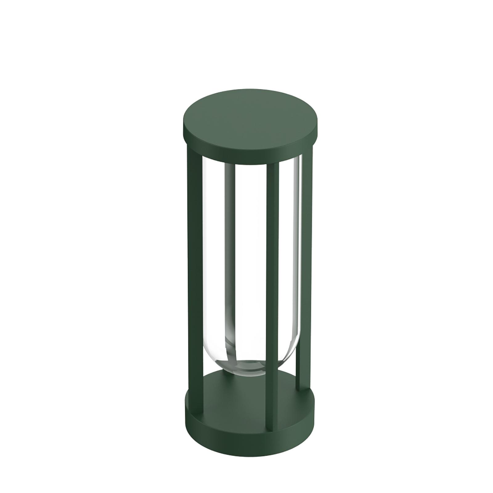 FLOS In Vitro Bollard 1, 2700K, 40 cm mörkgrön