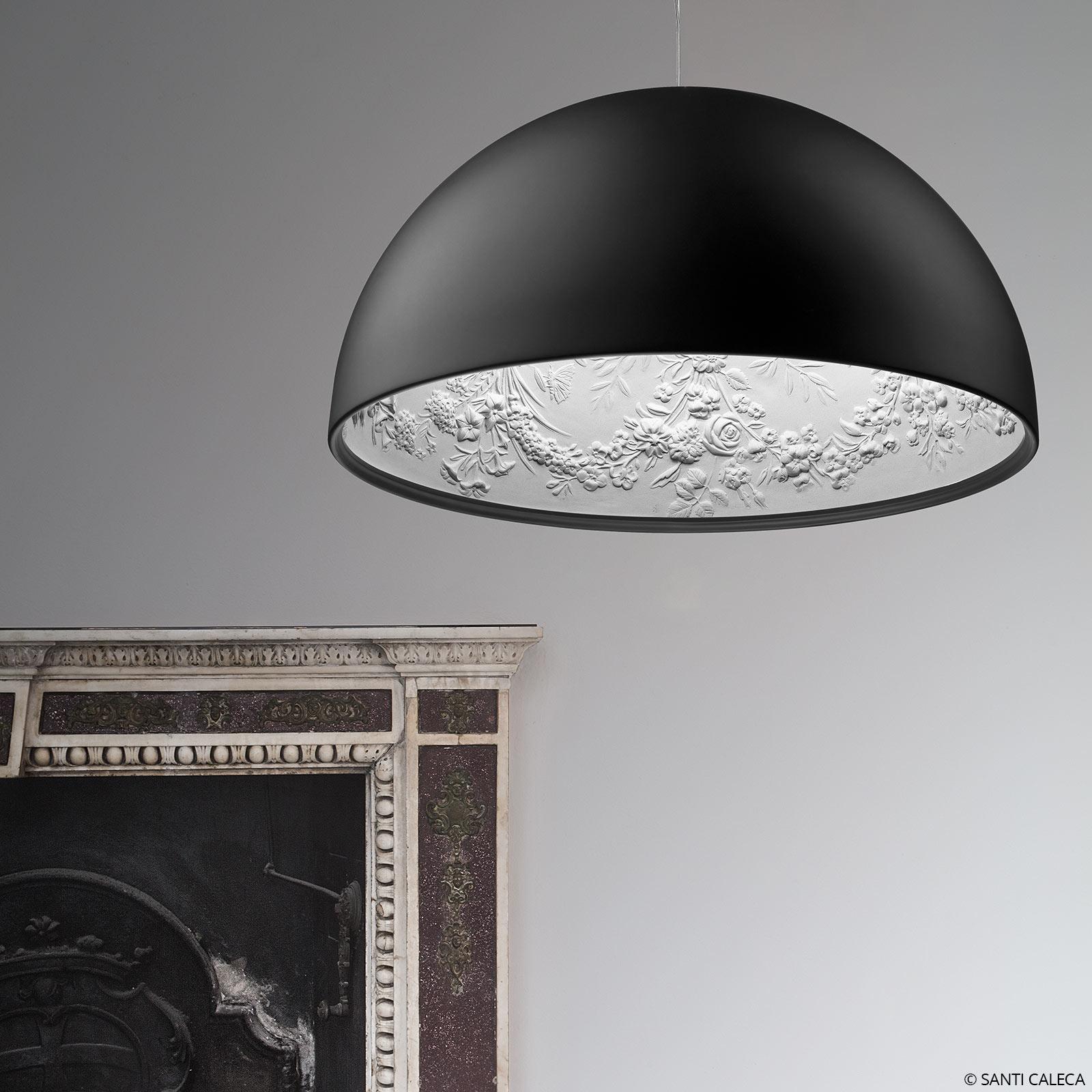 FLOS Skygarden 1 závěsné světlo matná černá Ø 60cm
