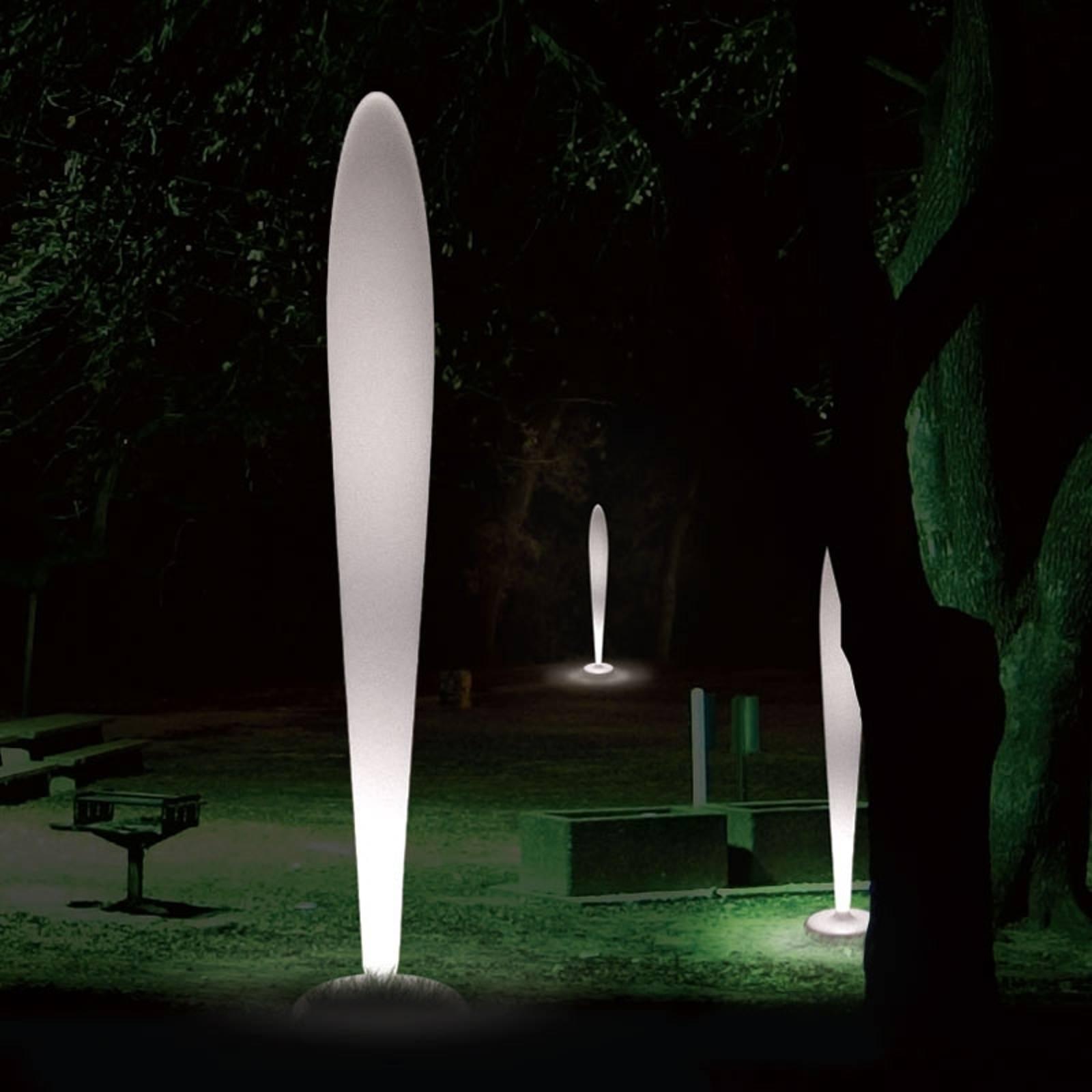 Lampadaire design blanc PEGGY pour l'extérieur E27