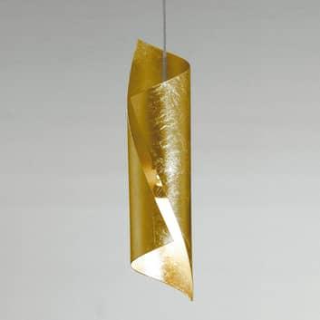 Knikerboker Hué LED-hänglampa 8x37 cm bladguld