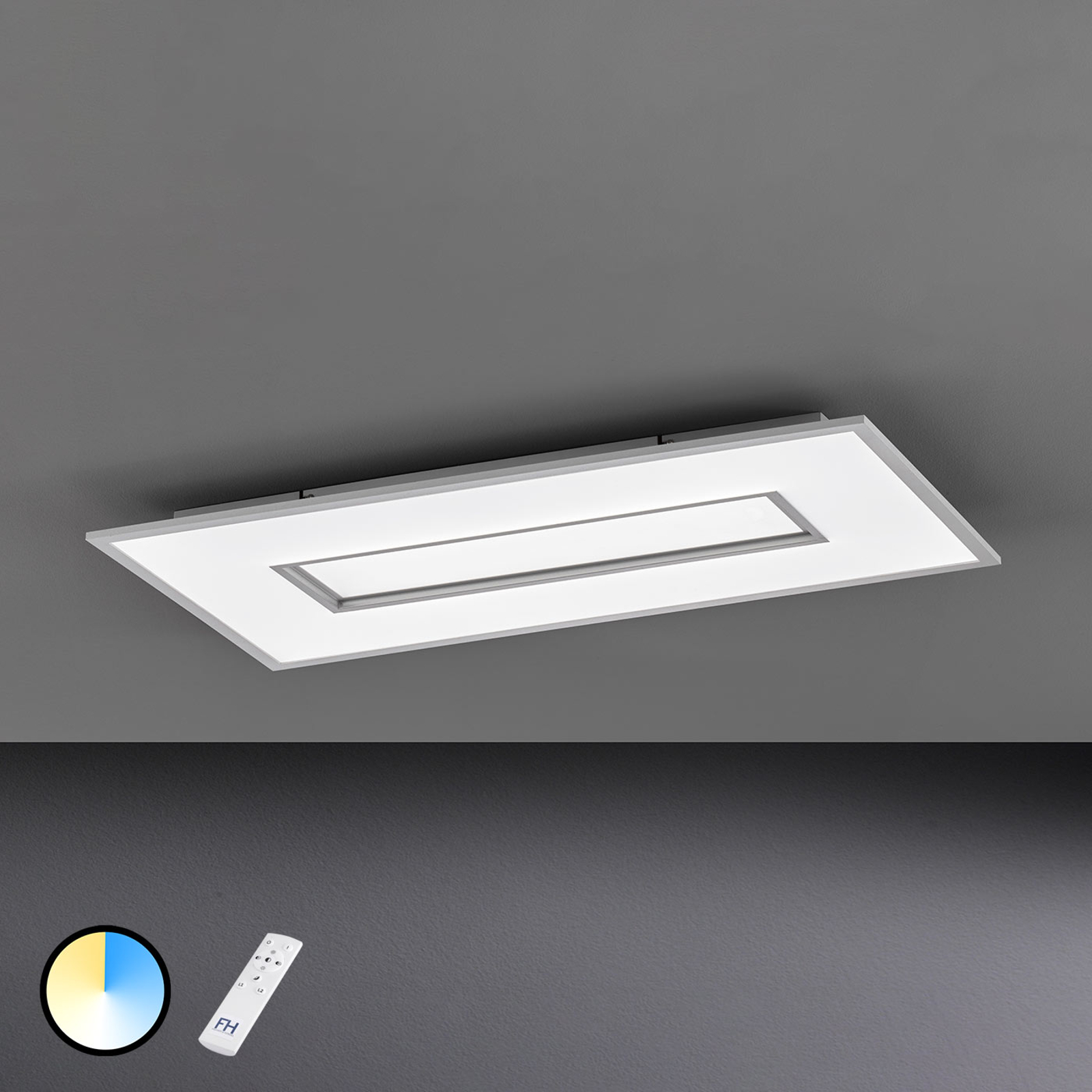 Plafoniera LED Tiara rettangolare 80x40 cm