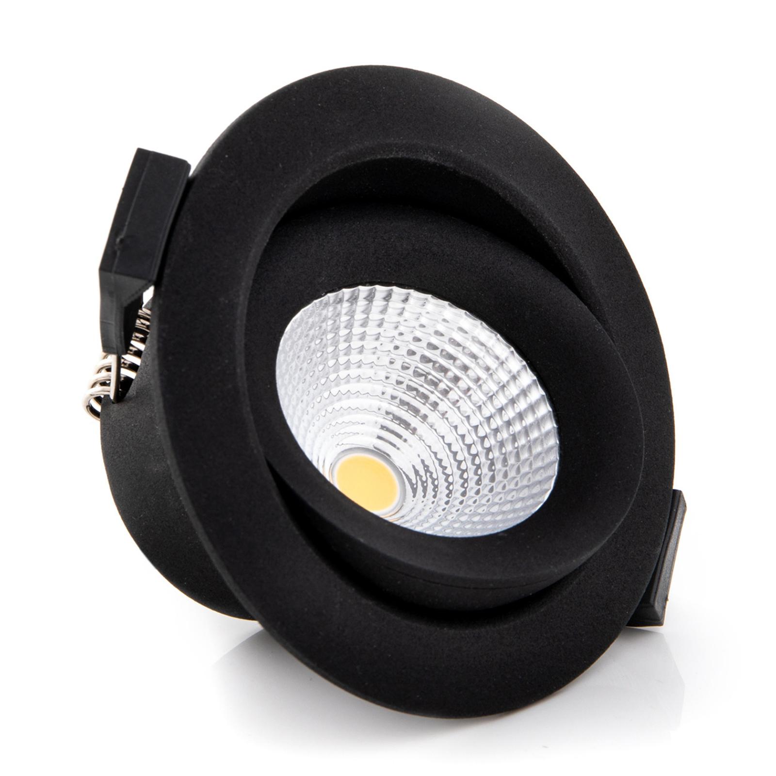 SLC One 360° LED-Einbauleuchte schwarz 2.700K