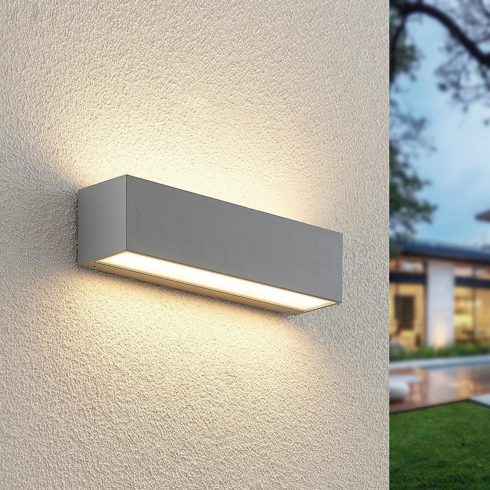 Lucande Lengo kinkiet zewnętrzny LED Up Down 25 cm
