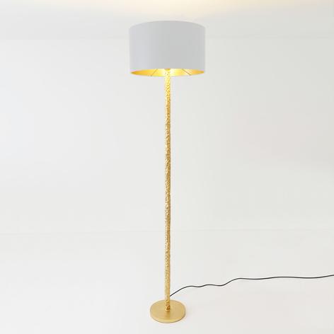 Piantana Cancelliere Rotonda seta bianco/oro