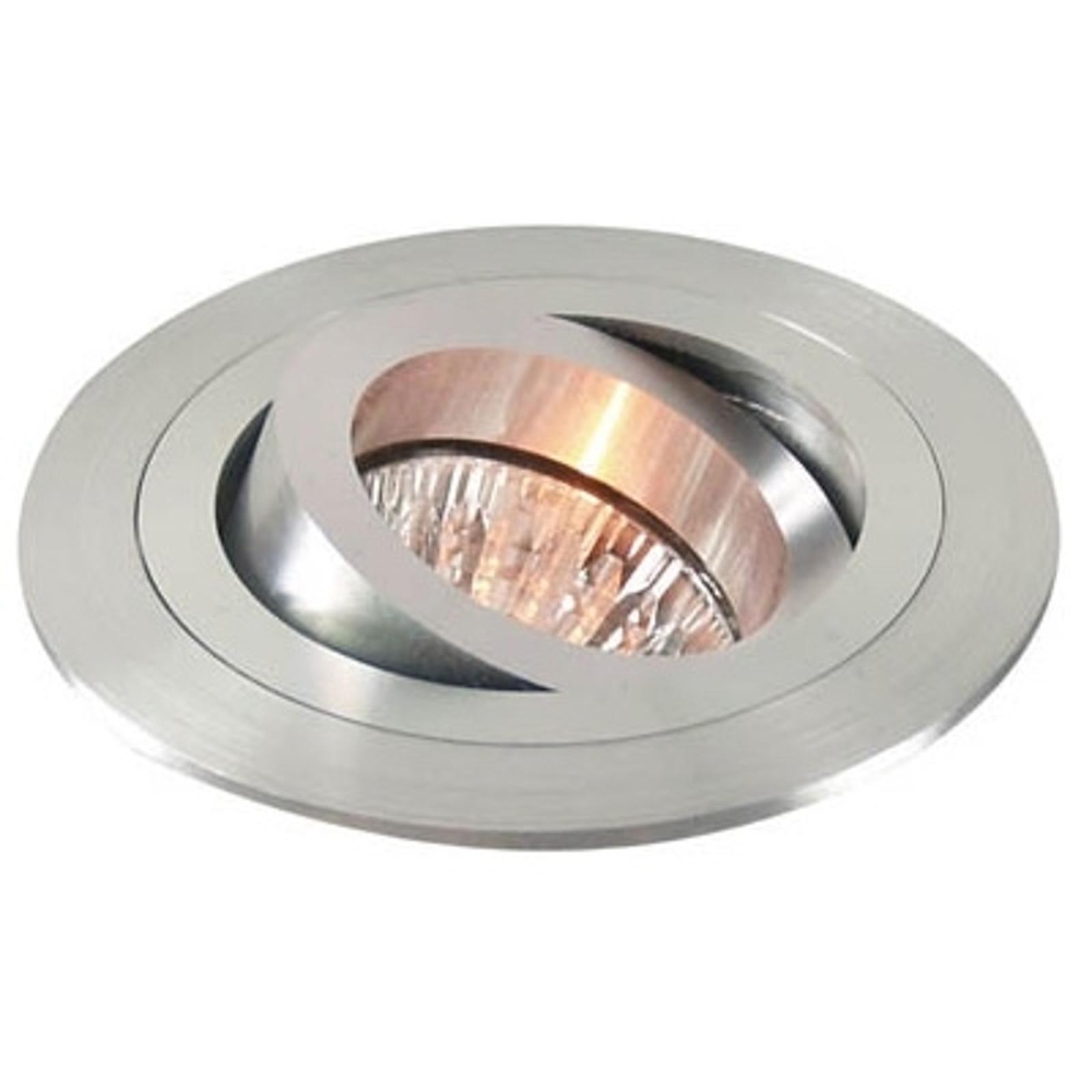 Výklopné podhledové kruhové svítidlo, matný hliník