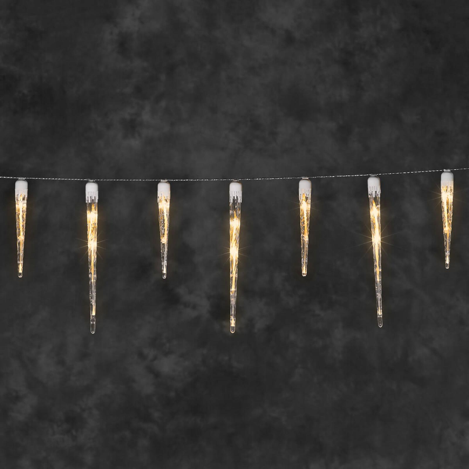 Istapp-lyslenke LED for utendørs bruk