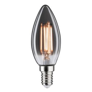 LED-kertepære E14 4W 2.200K, røgglas, kan dæmpes