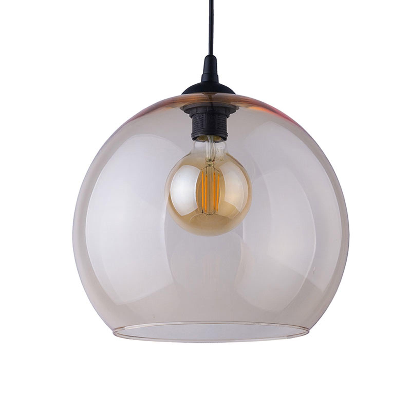Suspension Cubus, à 1 lampe, ambrée