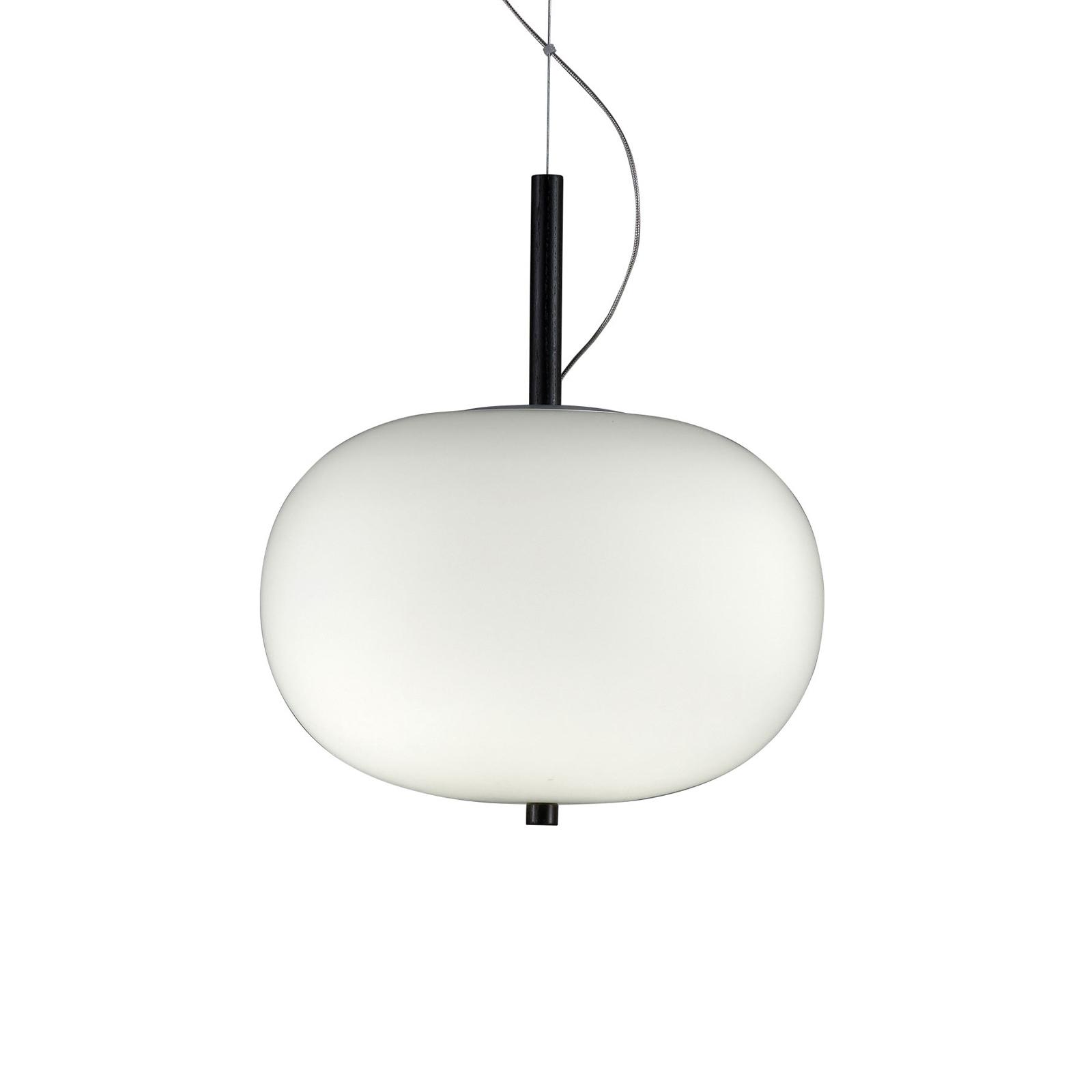 Grok Ilargi Phase LED-hængelampe, mørk, Ø 24 cm