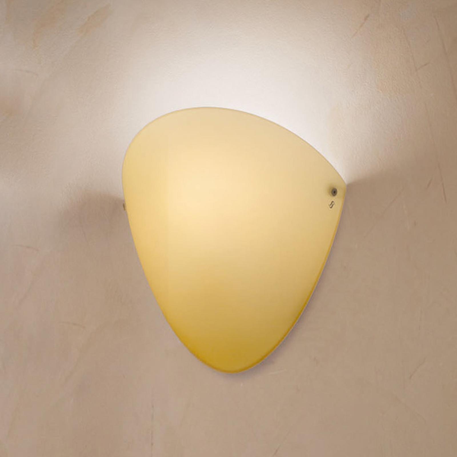 Ovalina - wandlamp E27 topaas glanzend