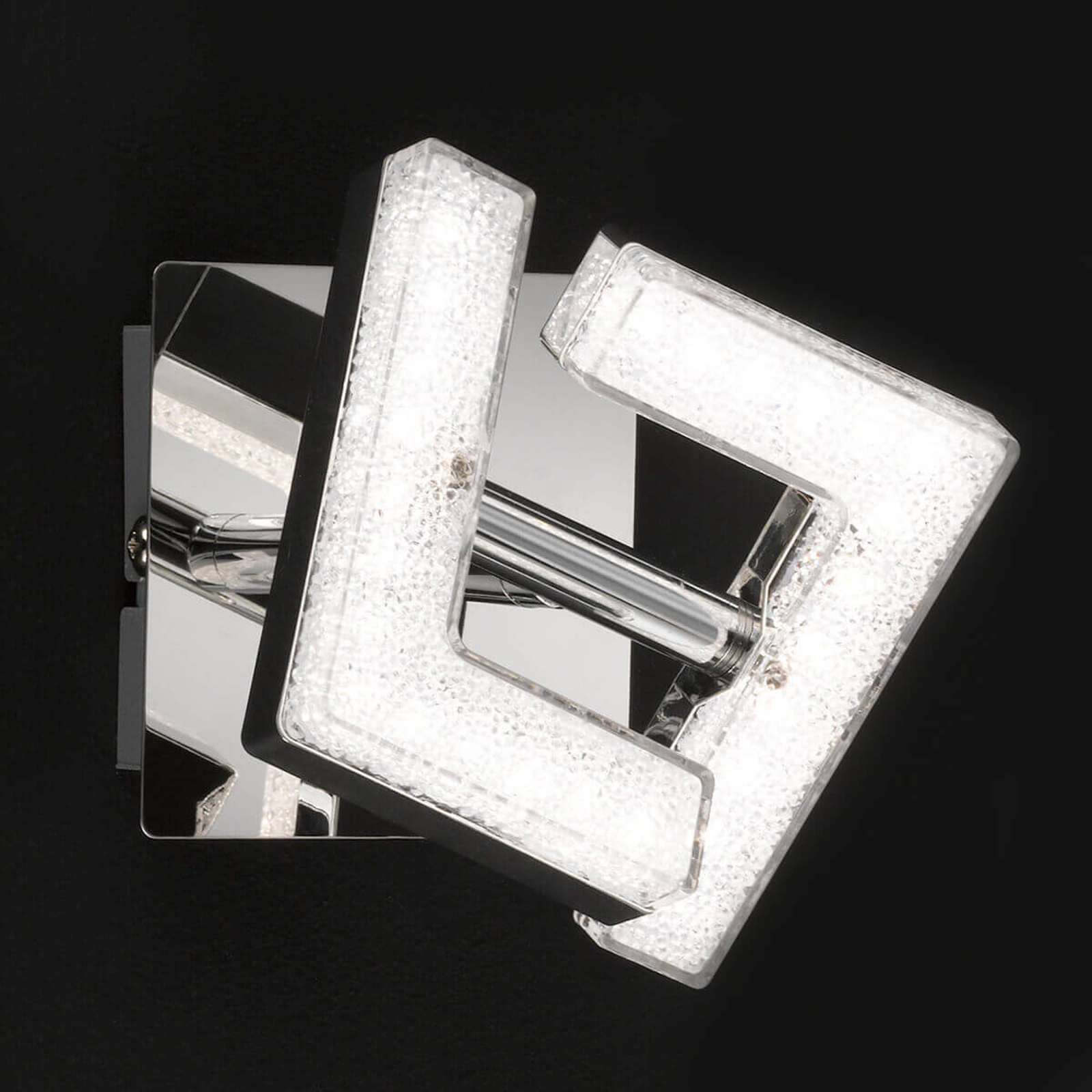 Chroomglanzende LED wandlamp Lea, instelbaar