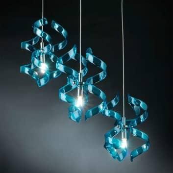 Fascinerende hengelampe Blue, 3 lys
