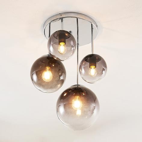 Lindby Robyn Taklampe av glass, 4 lyskilder