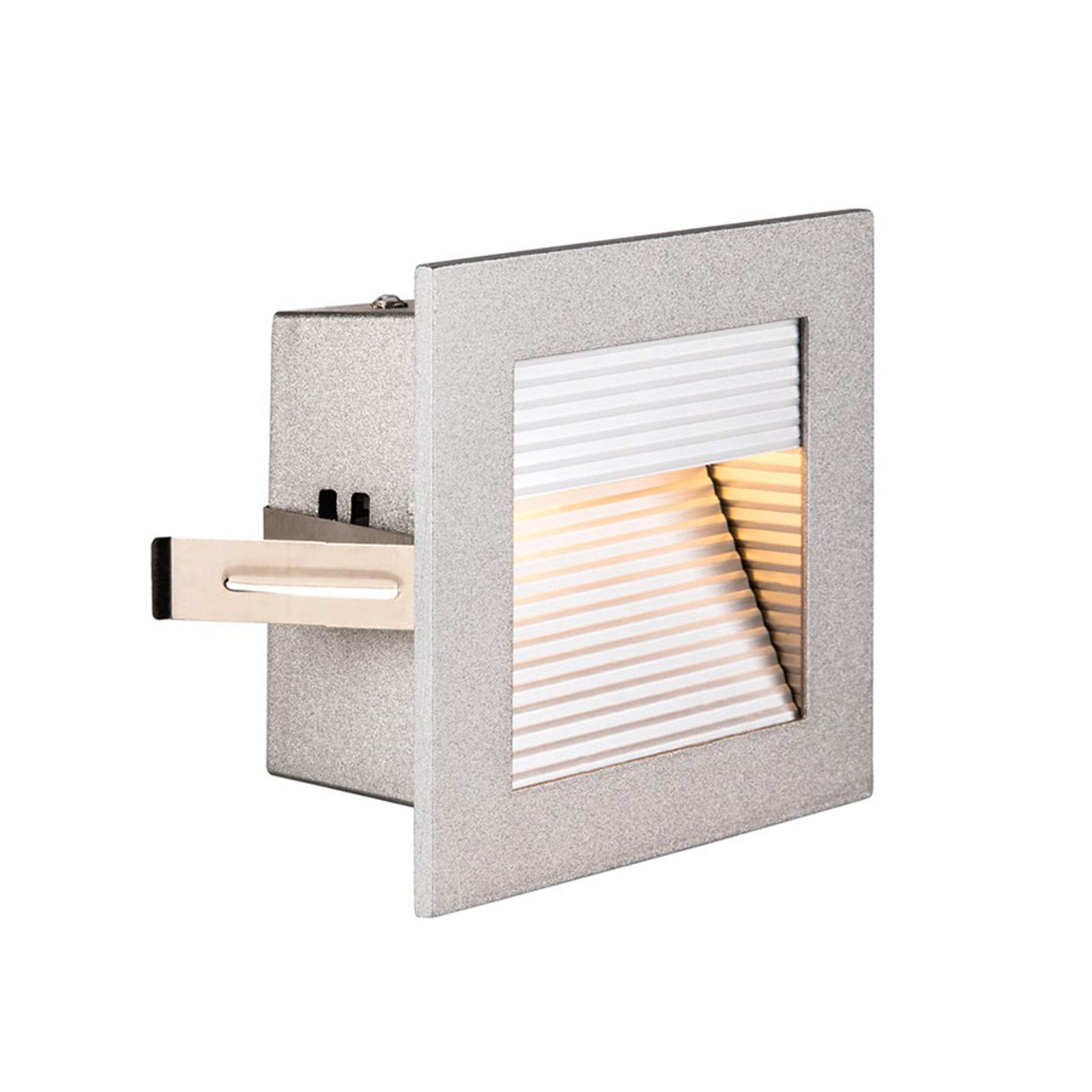 SLV Frame Curve LED Einbauleuchte silber