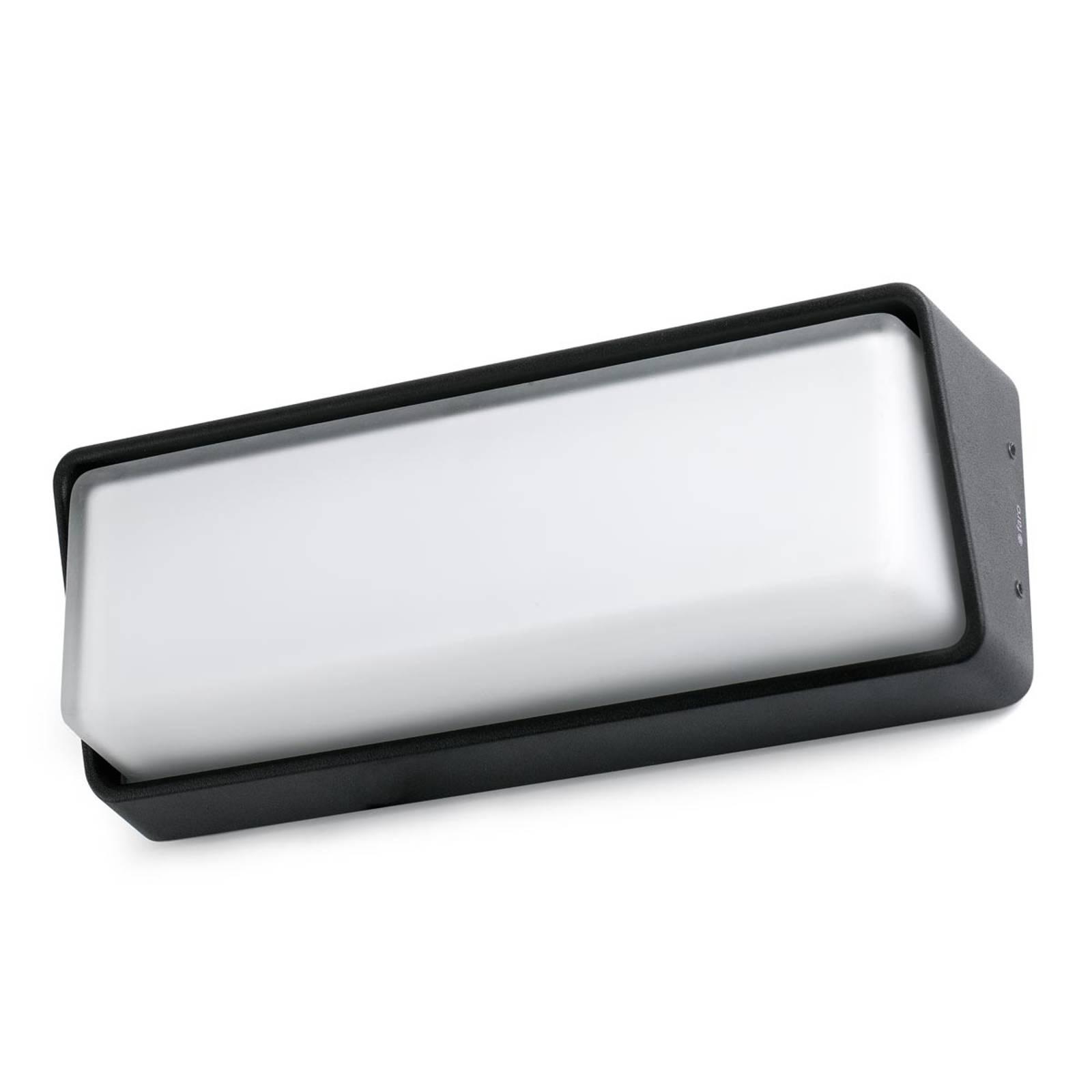 Tijdloze buitenwandlamp Half met LED-licht