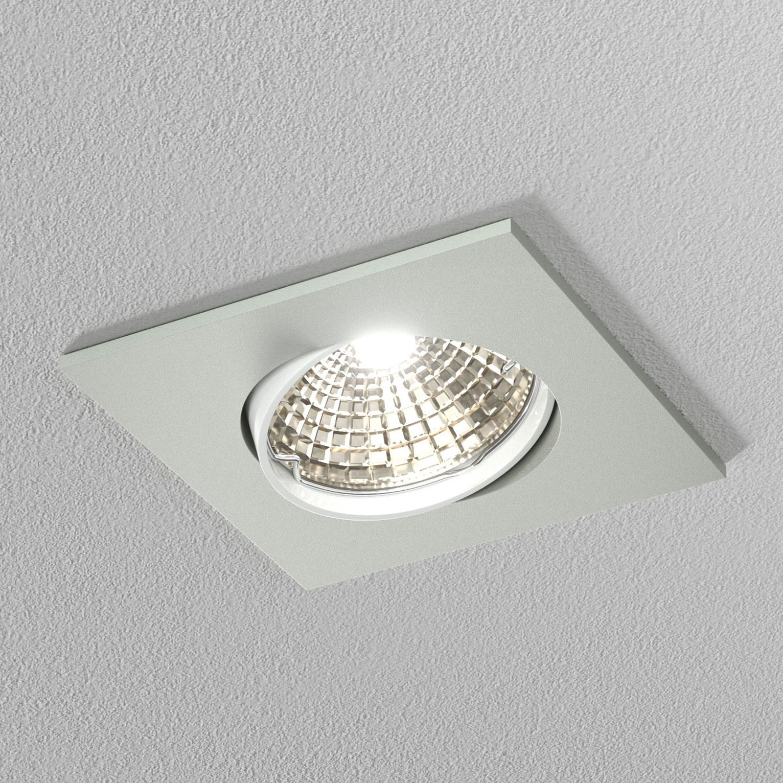 Diskret loft-indbygningsring hvid, 6,8 cm