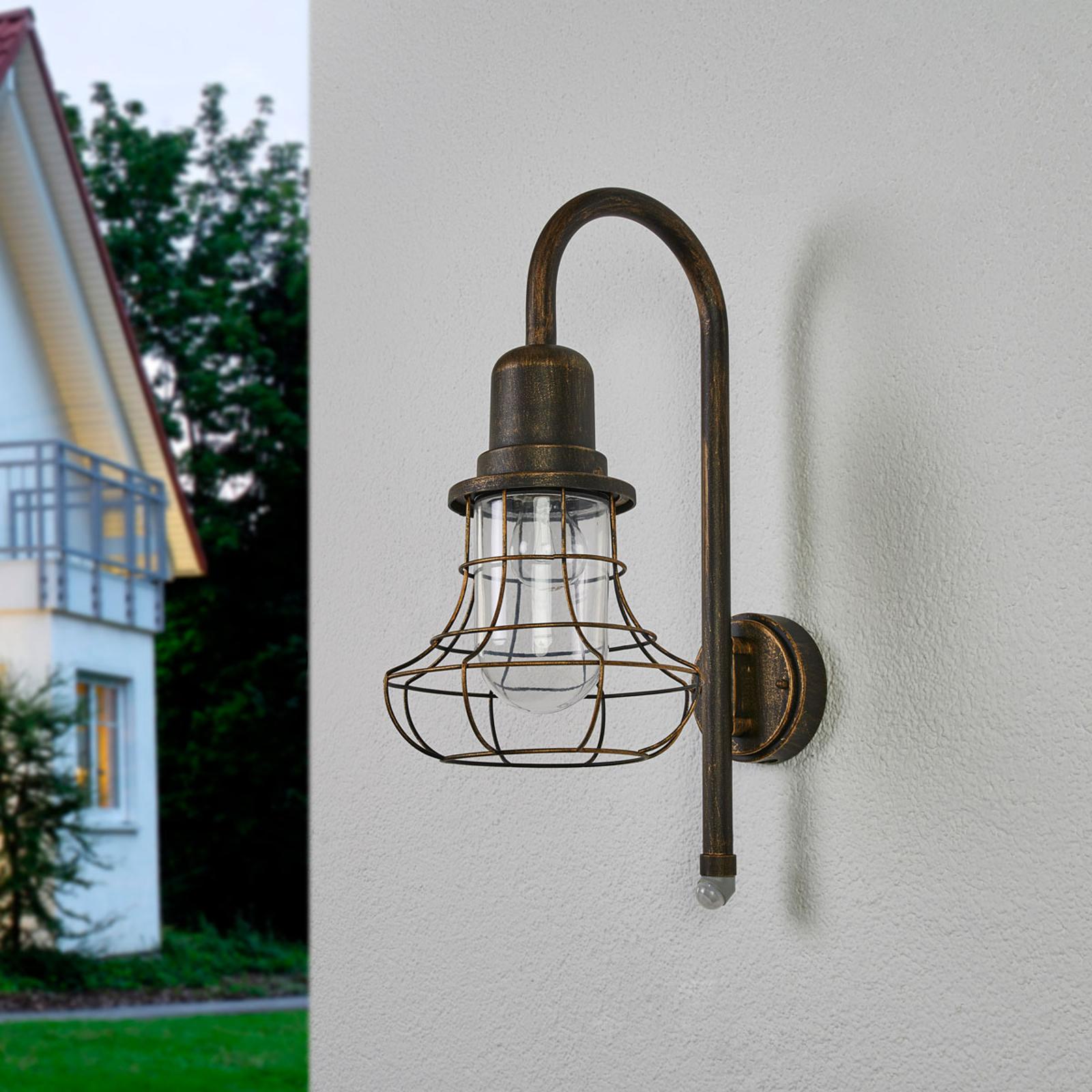 Mit Sensor - antike Wandlampe Bird für außen