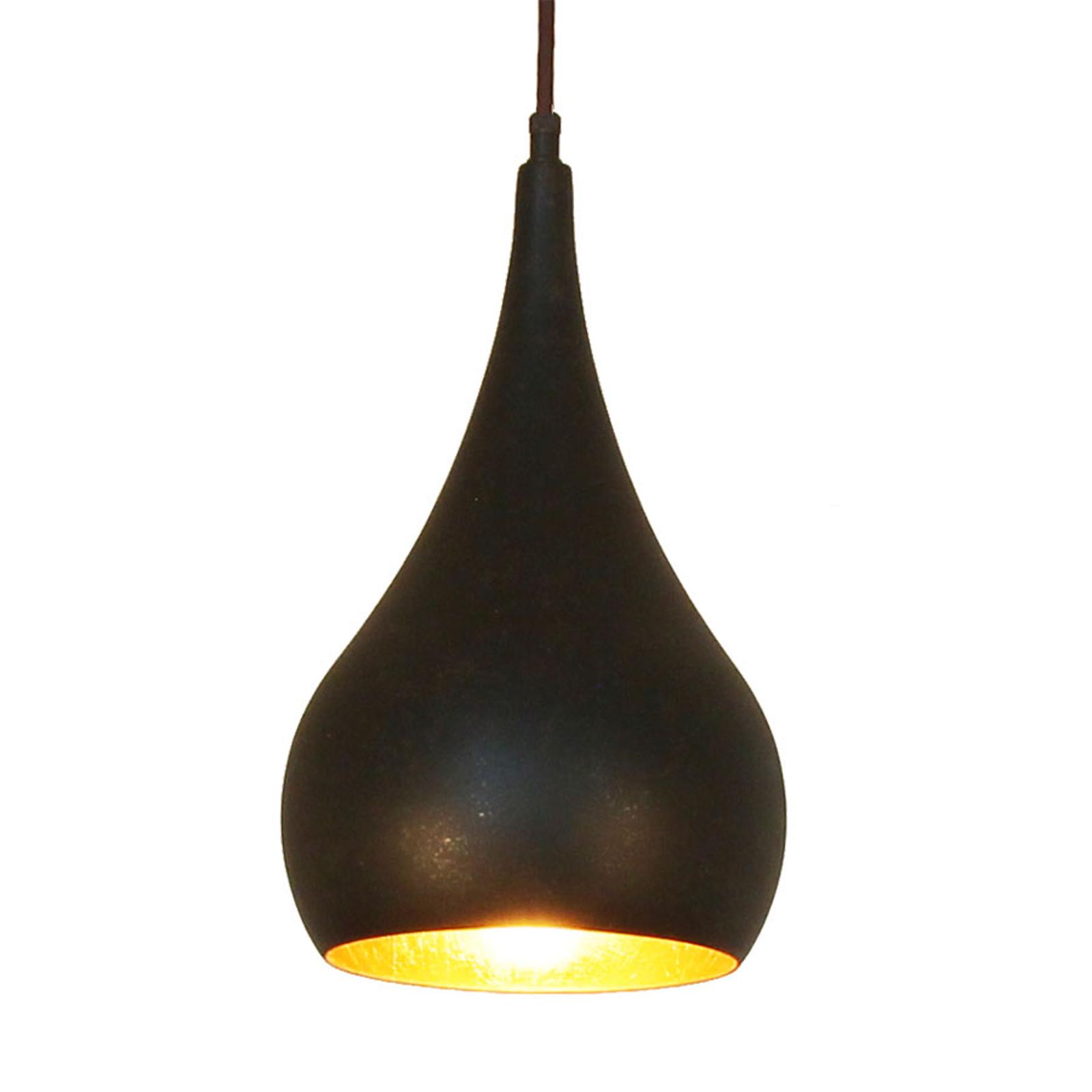 Menzel Solo lampa wisząca cebula brąz-czarna 16cm