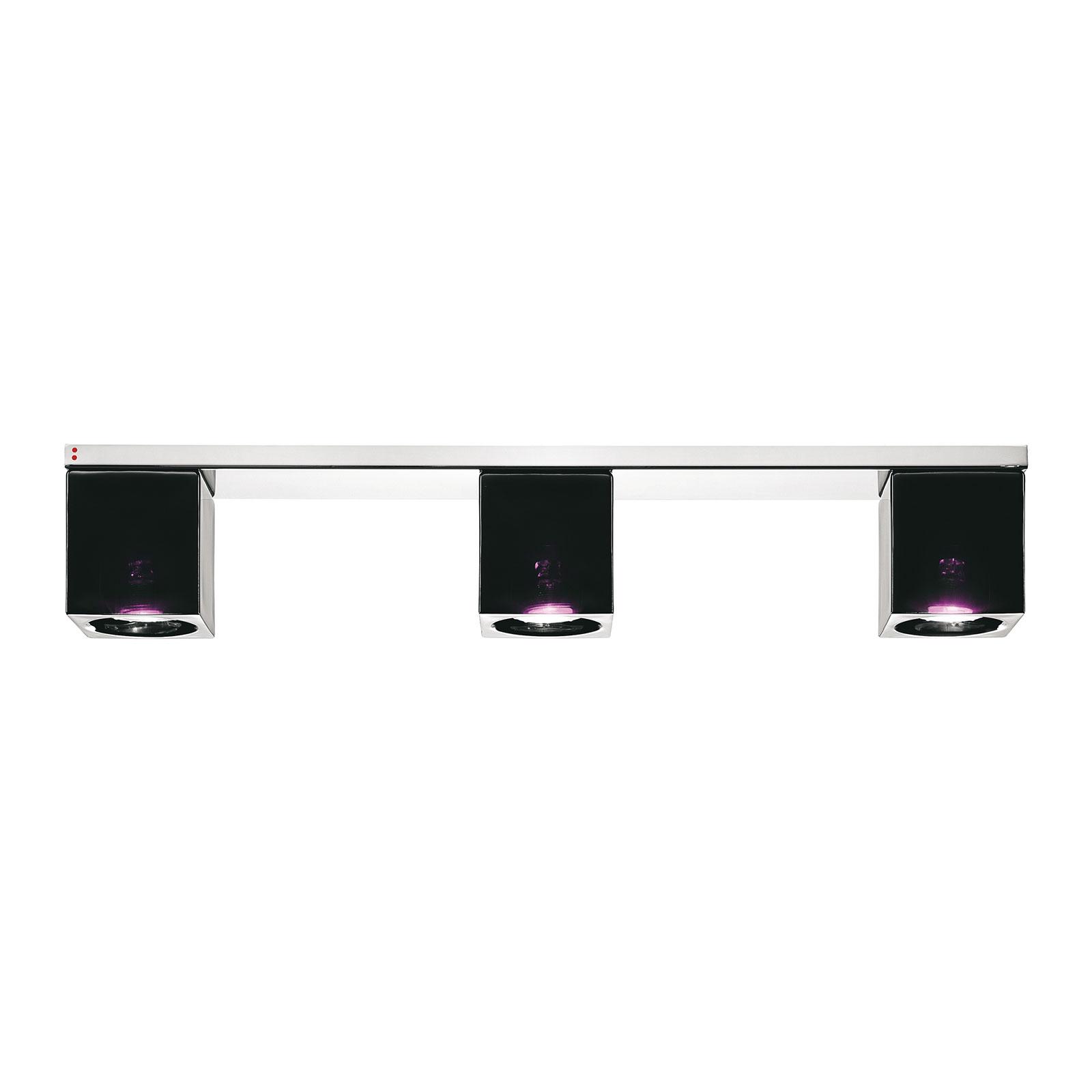 Fabbian Cubetto plafondlamp 3-lamps GU10 zwart