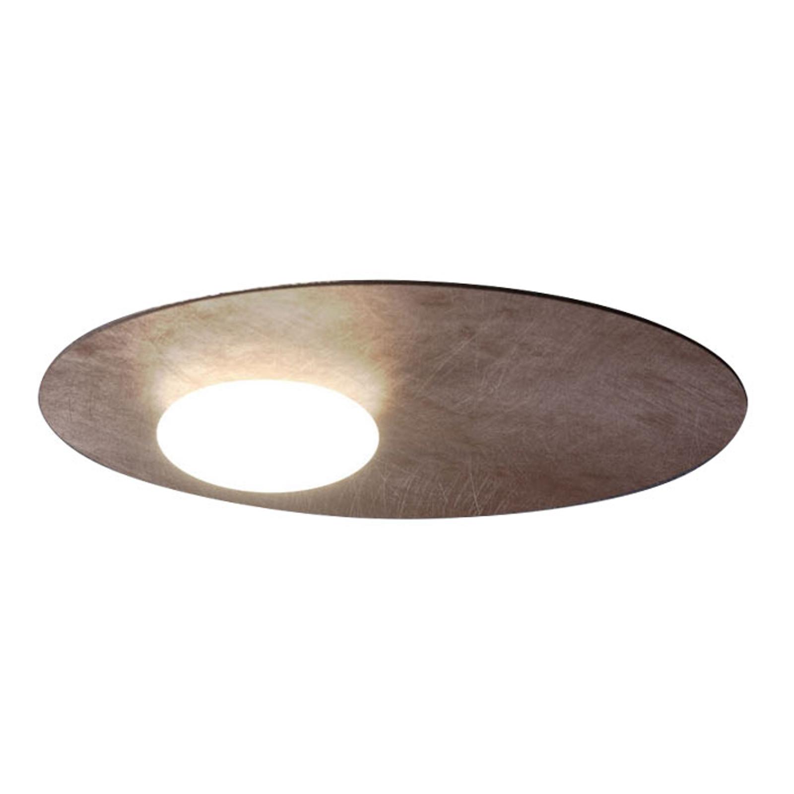 Axolight Kwic LED-Deckenleuchte, bronze Ø48cm