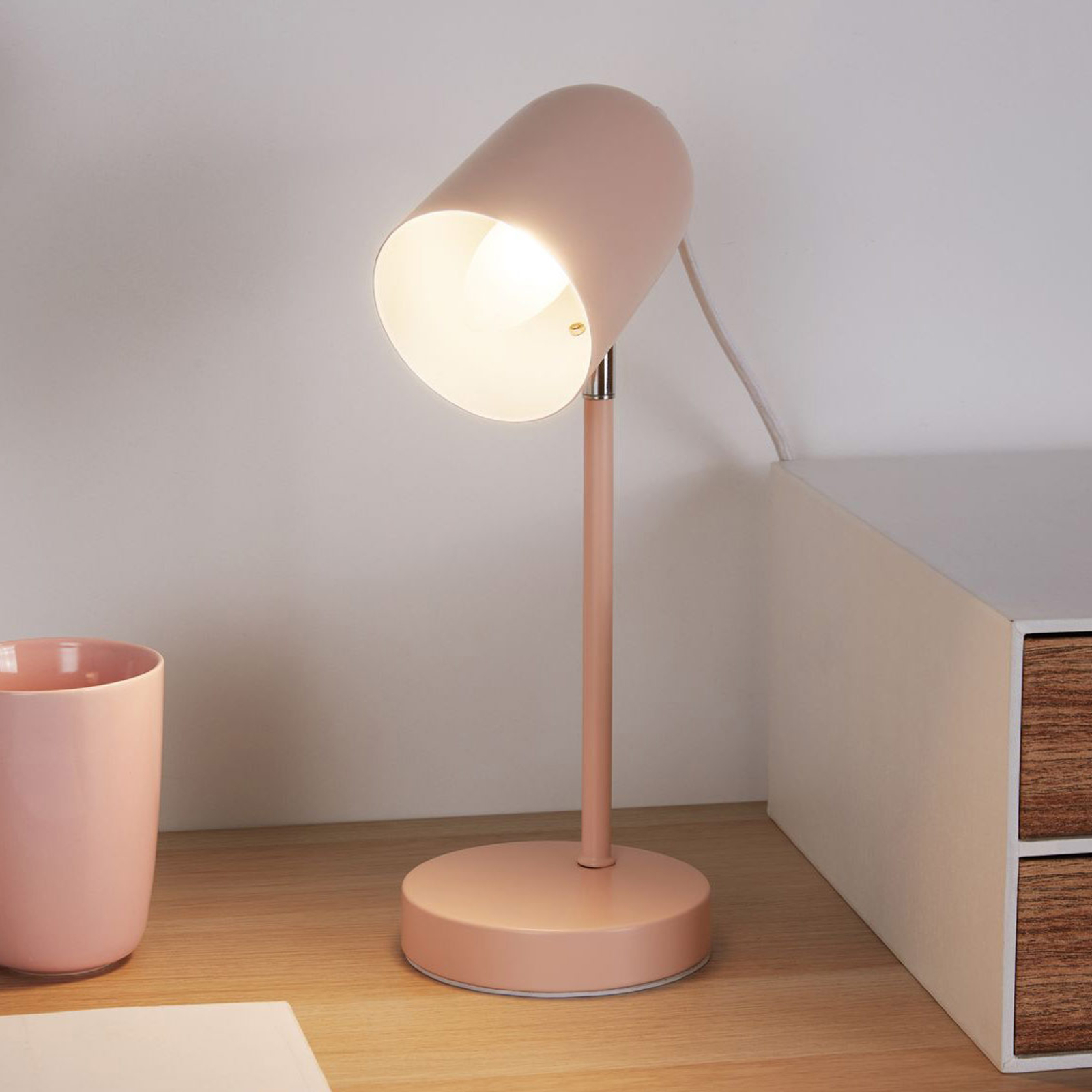 Pauleen True Pearl -pöytälamppu metallia, roosa