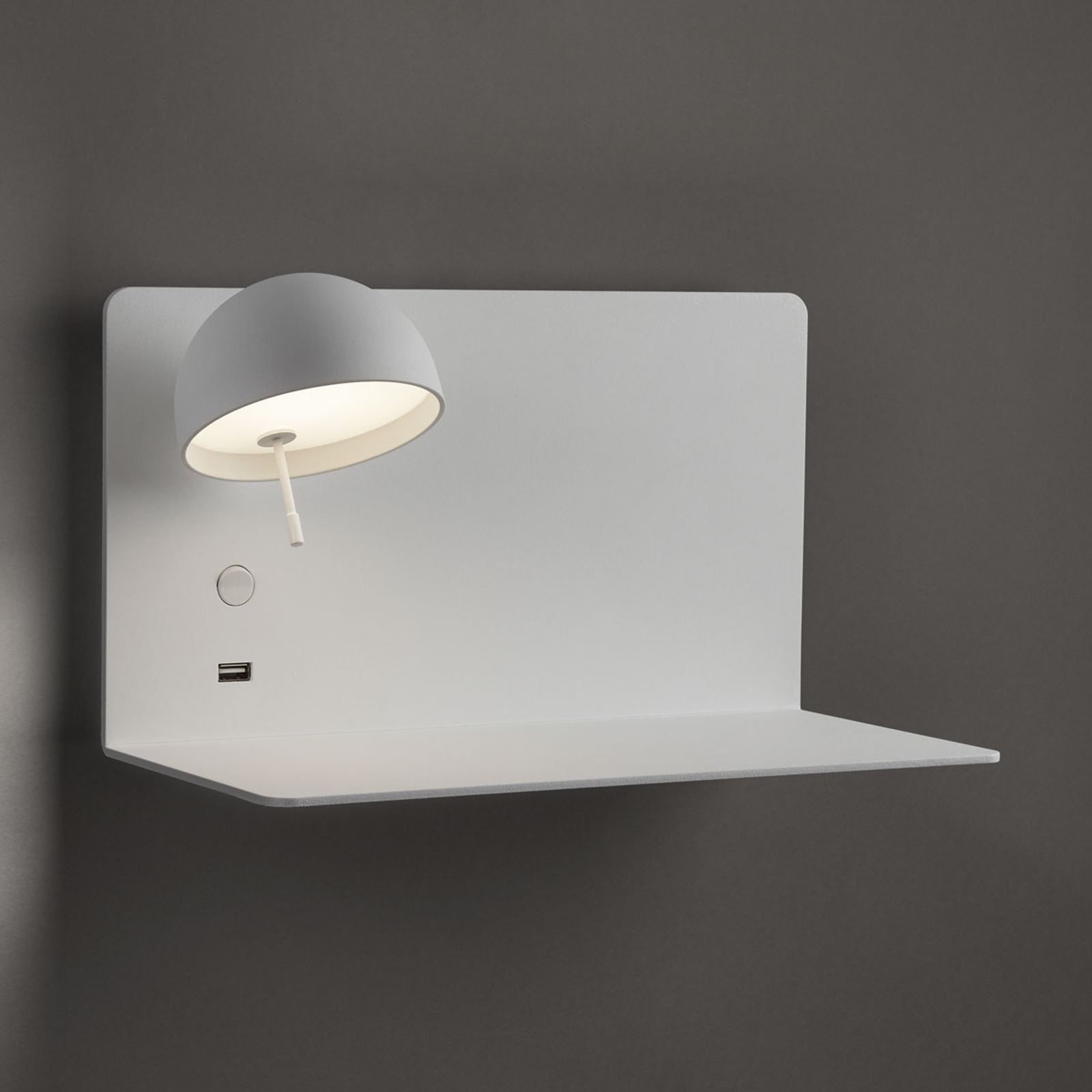 Bover Beddy A/03 LED wandlamp wit spot links