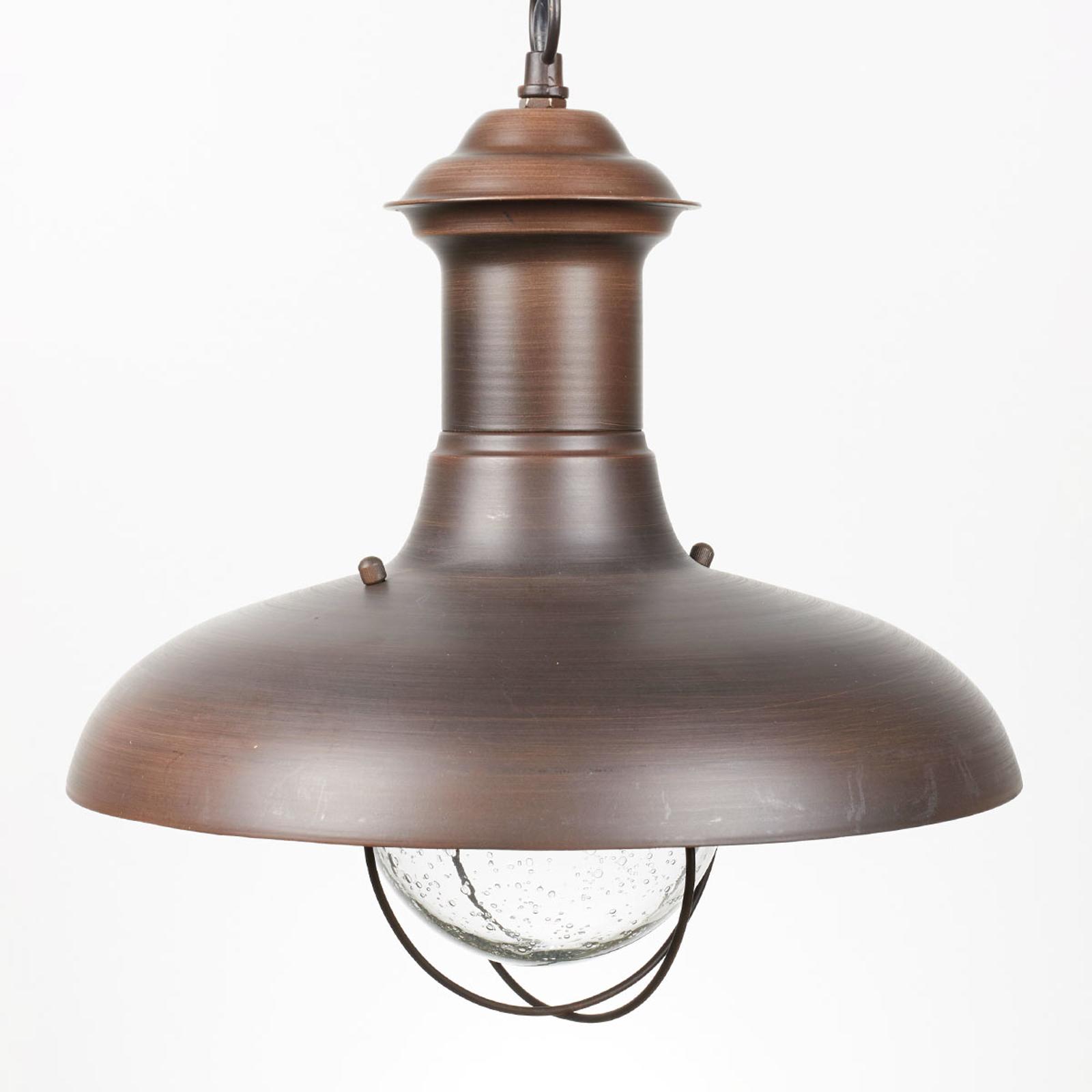 ESTORIL-G zewnętrzna lampa wisząca oksydowana brąz