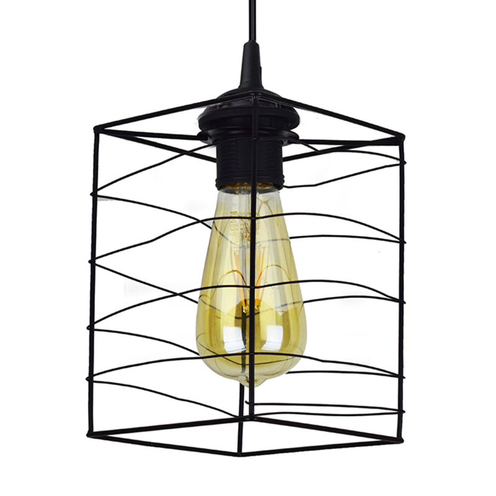 Hanglamp Dantos, 1-lamp, zwart