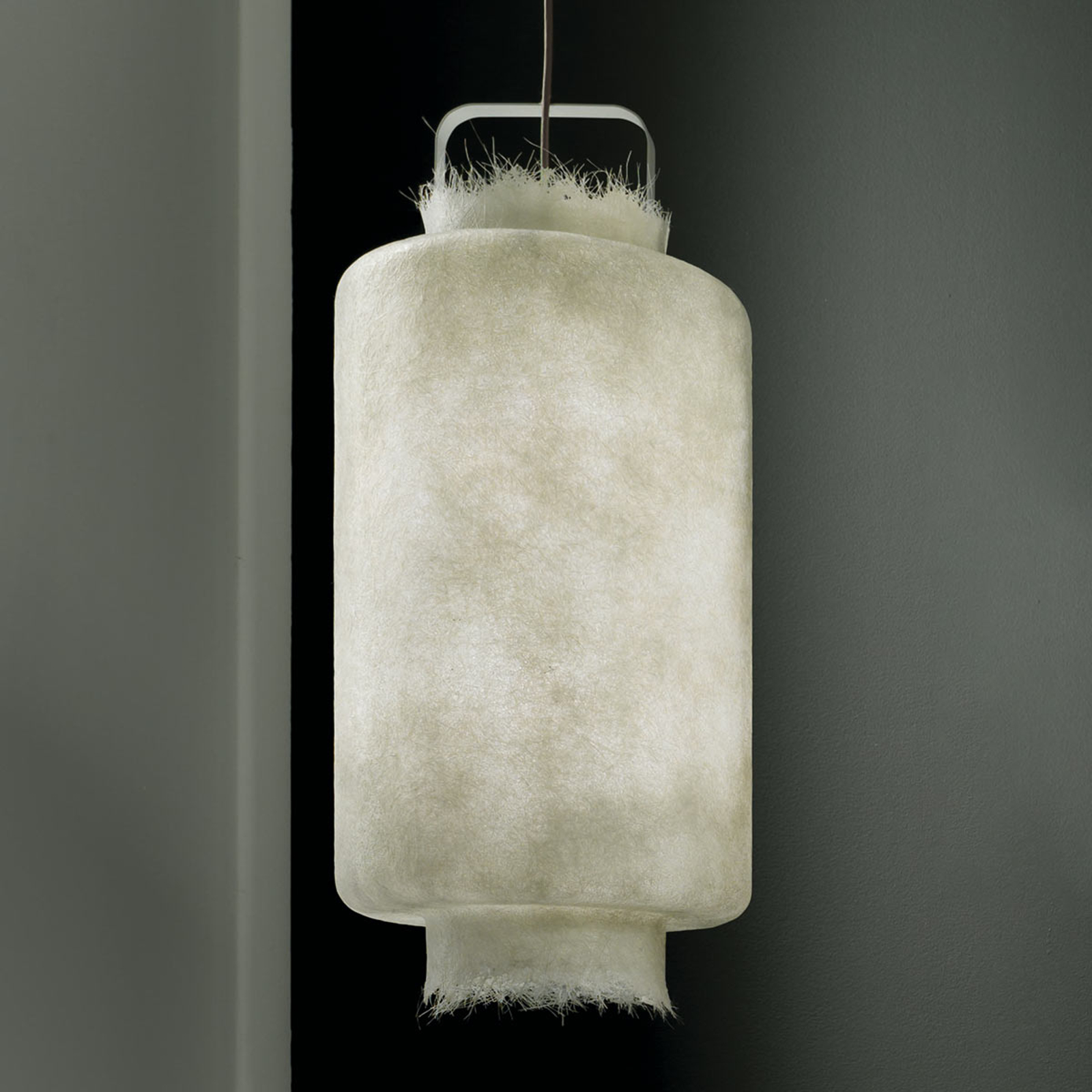Lampa wisząca LED Kimono, włókno szklane, 40 cm