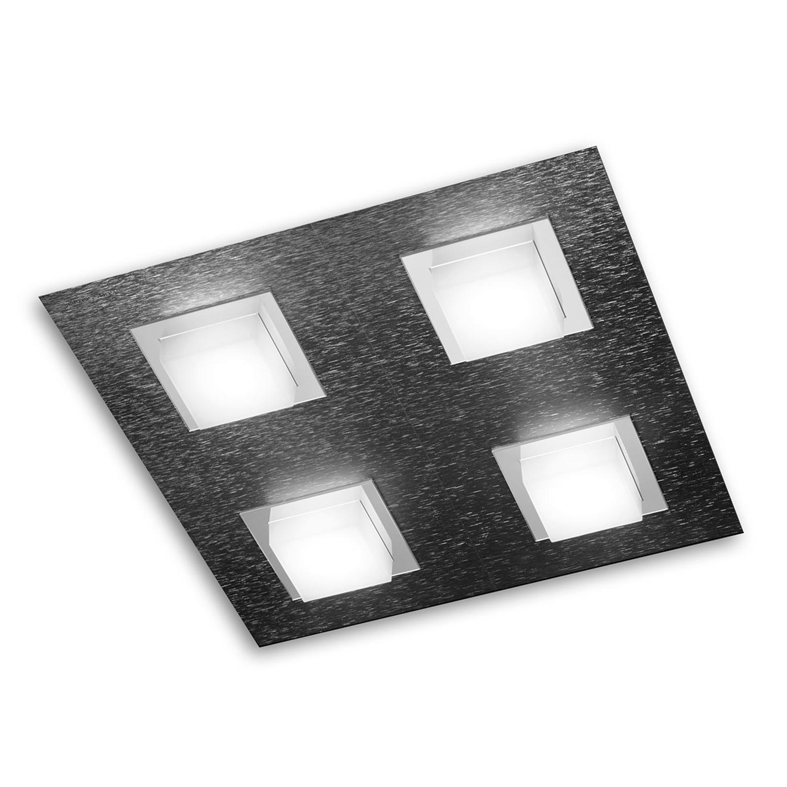 GROSSMANN Basic LED-taklampe 4lk., antrasitt