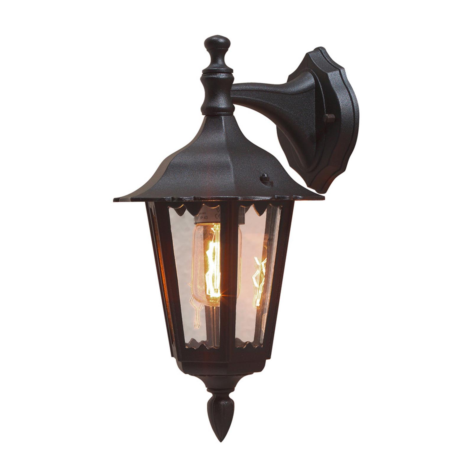 Buitenwandlamp Firenze, hangend, 36cm, zwart
