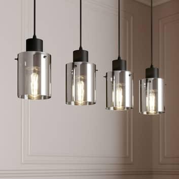 Lindby Kourtney hänglampa med glasskärm, 4 lampor
