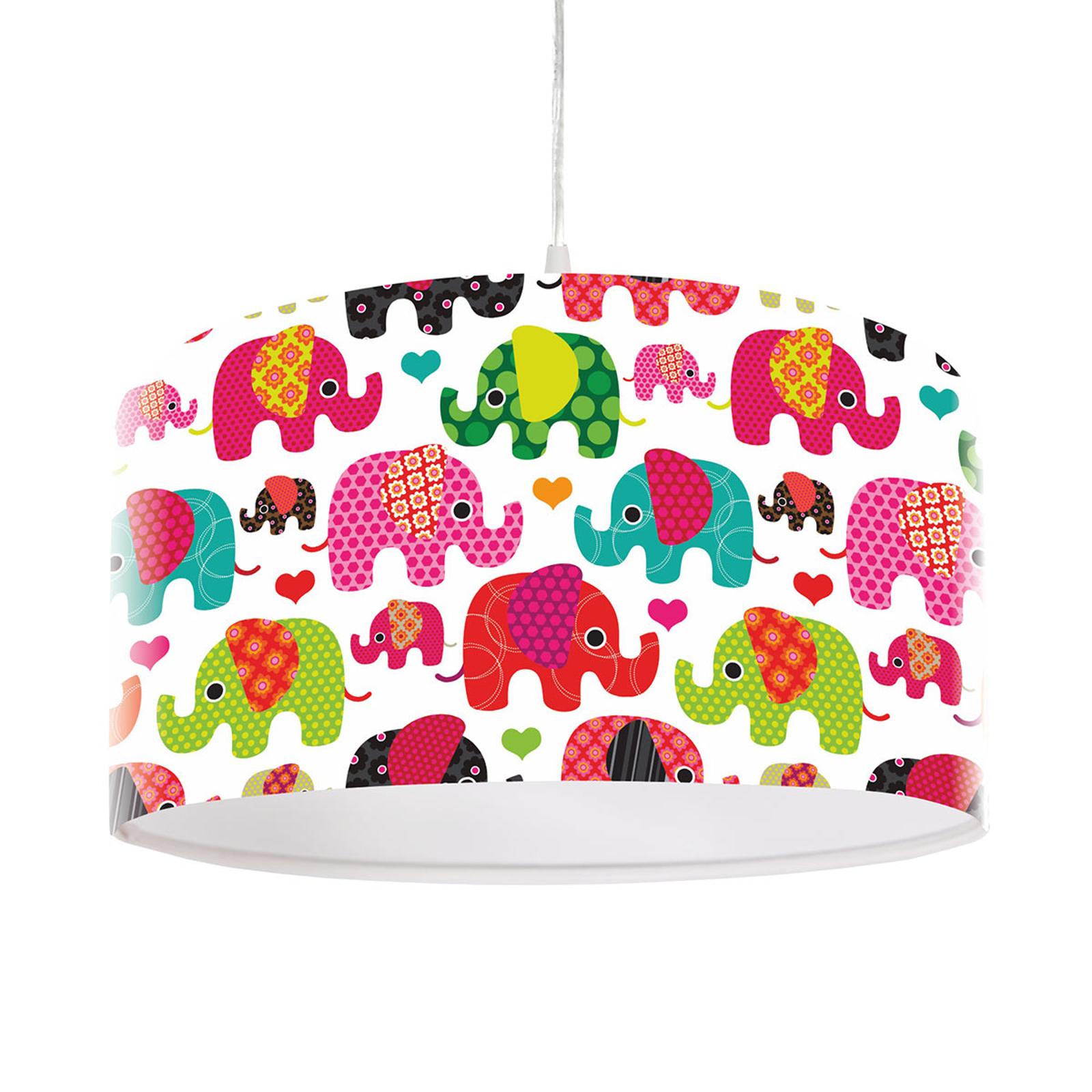 Słodka lampa wisząca dziecięca Słoń