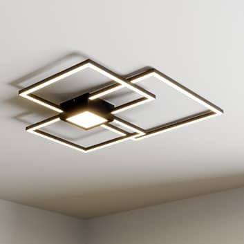 Lindby Duetto LED-loftlampe, antracit 38 W