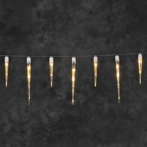 Stämningsfull LED-ljusslinga Istapp
