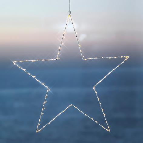 Indrukwekkende deco-ster LED Liva Star wit 70 cm