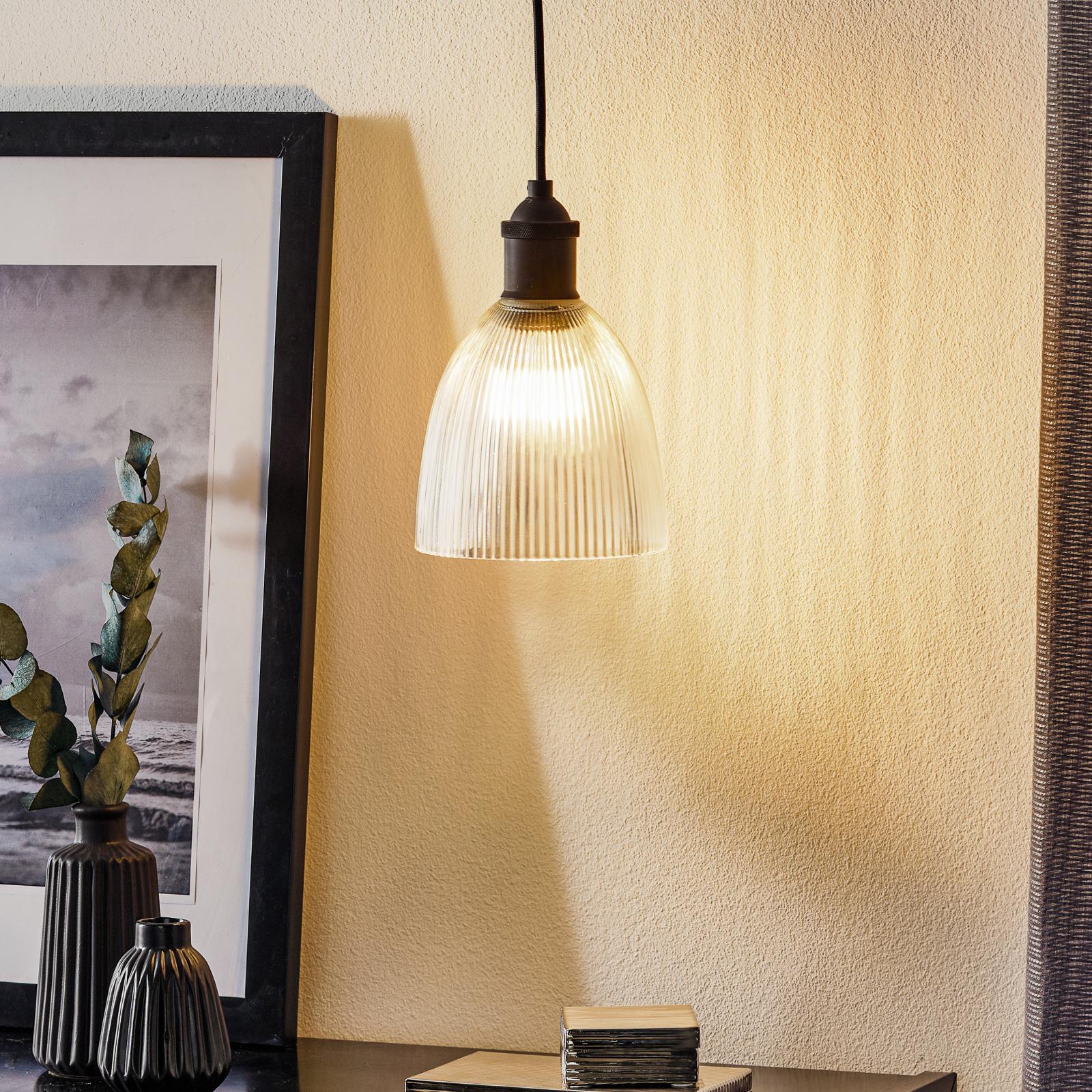 Westinghouse hængelampe 6338540, rillet glas