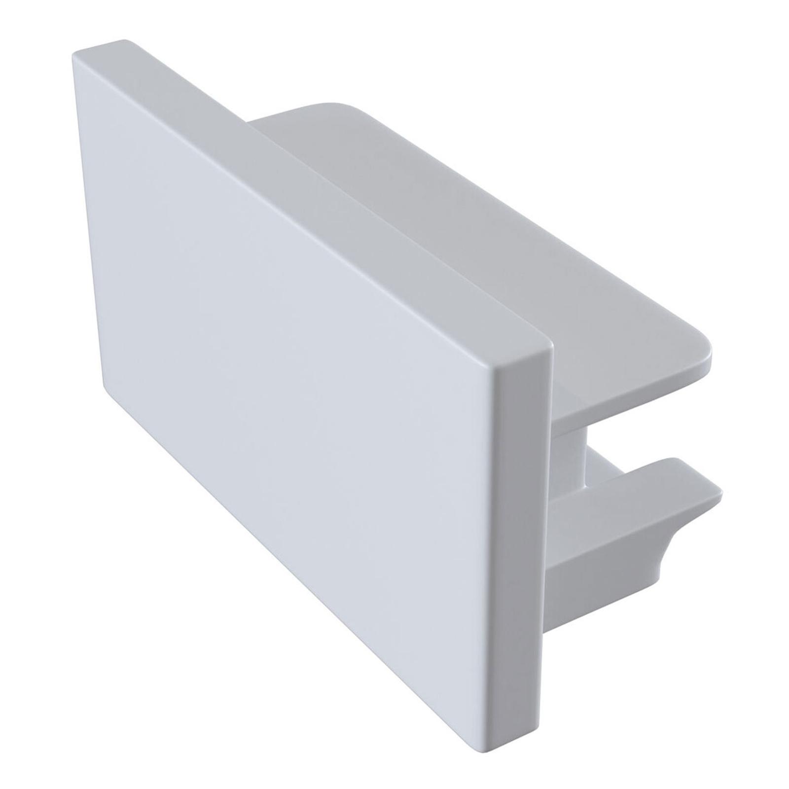 Endekappe Track, 1-faset skinne, hvid