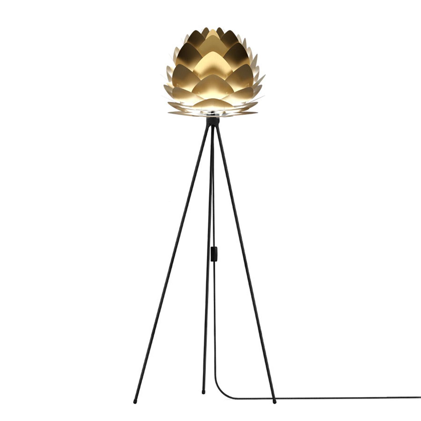 UMAGE Aluvia mini Stehlampe messing Tripod schwarz