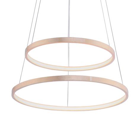 Suspension LED Circle dorée, à 2 lampes