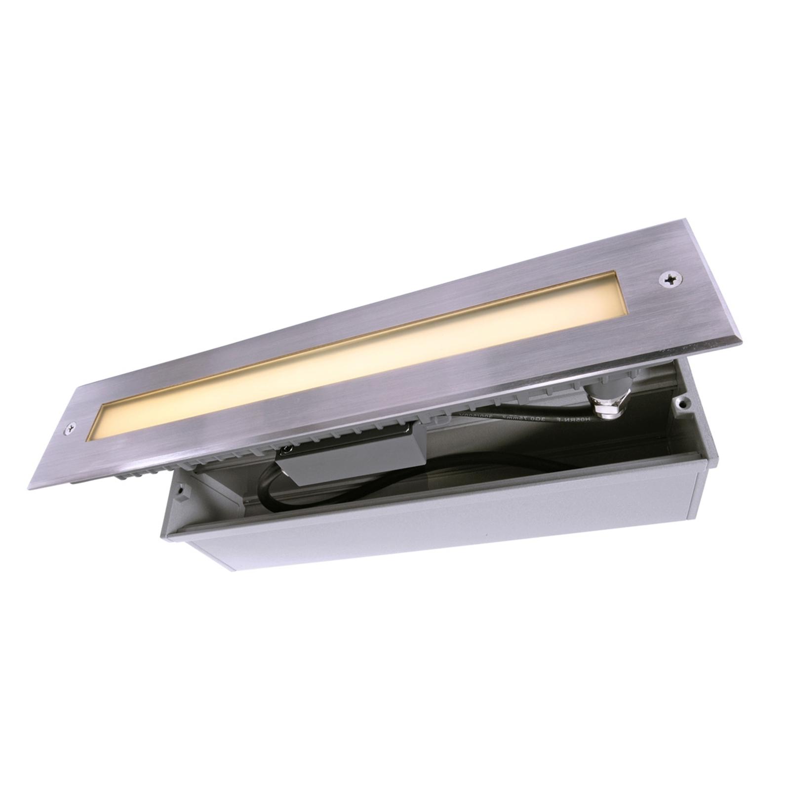 LED-golvinbyggnadslampa Line, längd 32,8 cm