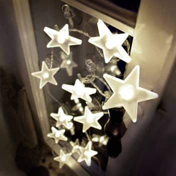 Uroczy łańcuch świetlny LED gwiazdy, mat, 2m